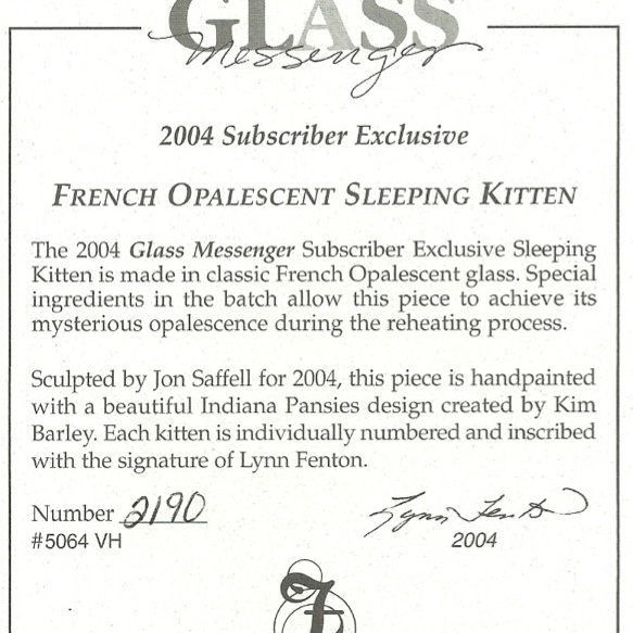 2004 Glass Mess Subscriber Excl
