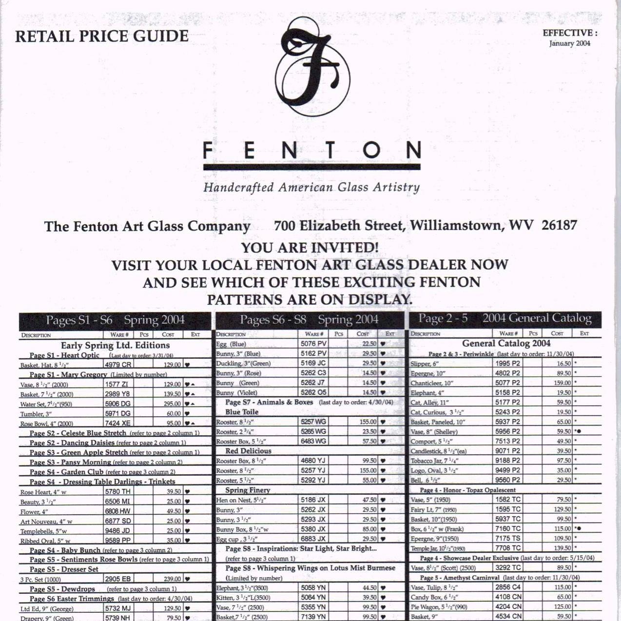 2004 Jan Price Guide