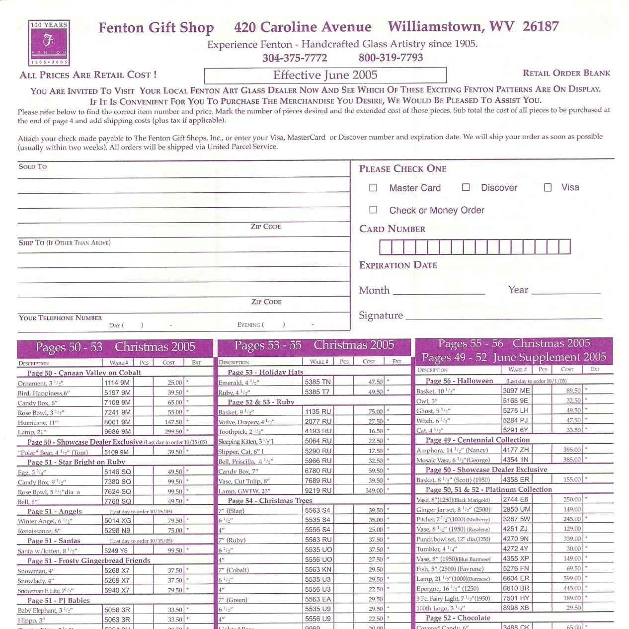 2005 June Price Guide