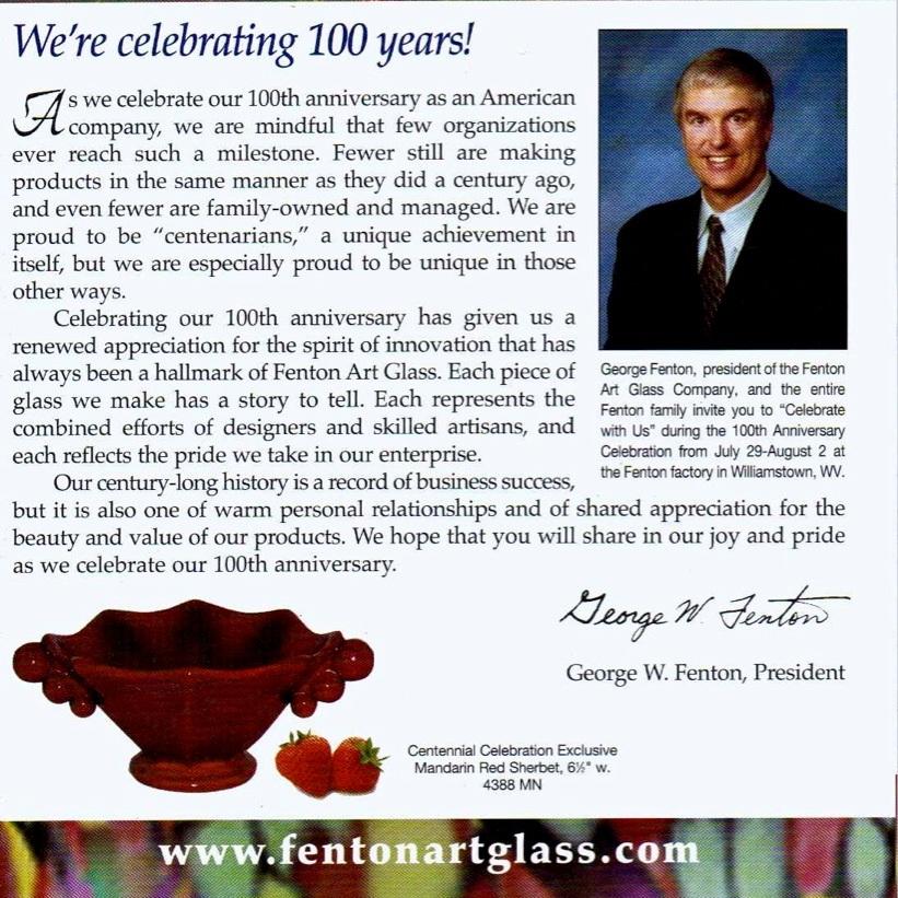 2005 Centennial Brochure