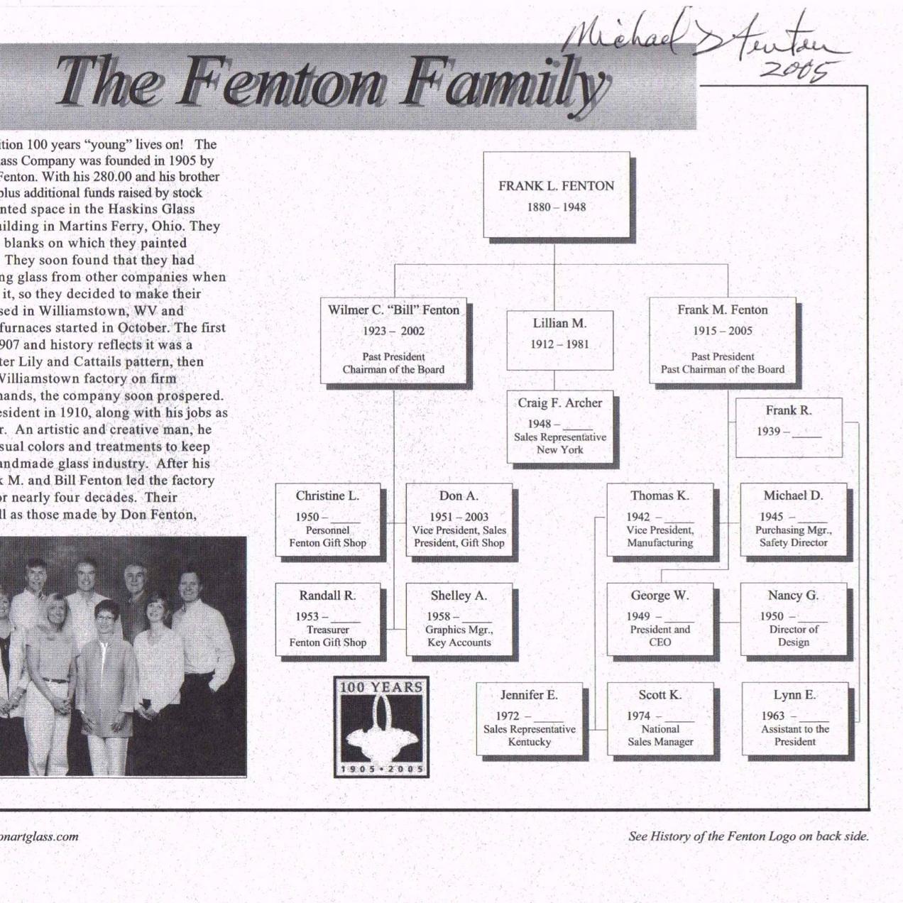 2005 Fenton Family & Logos