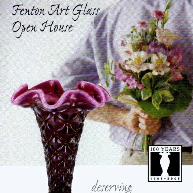 2005 Plum Opalescent Vase