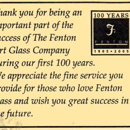 2005 Thank You Card