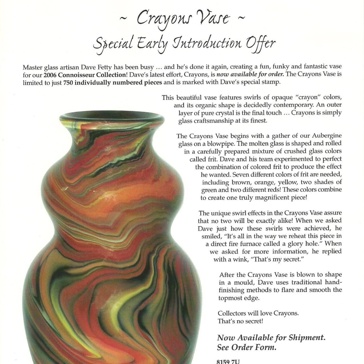 2006 Crayons Vase