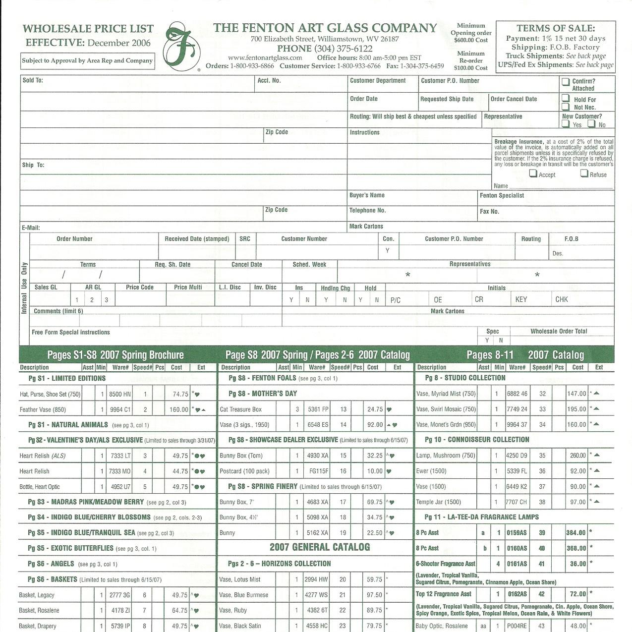 2006 Dec Price Guide