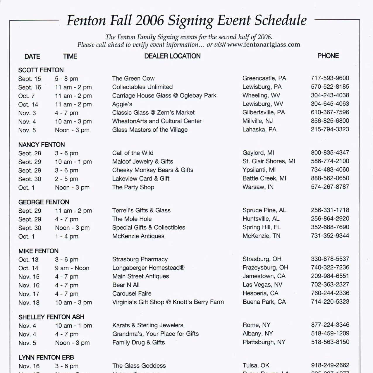 2006 Fall Signing Event