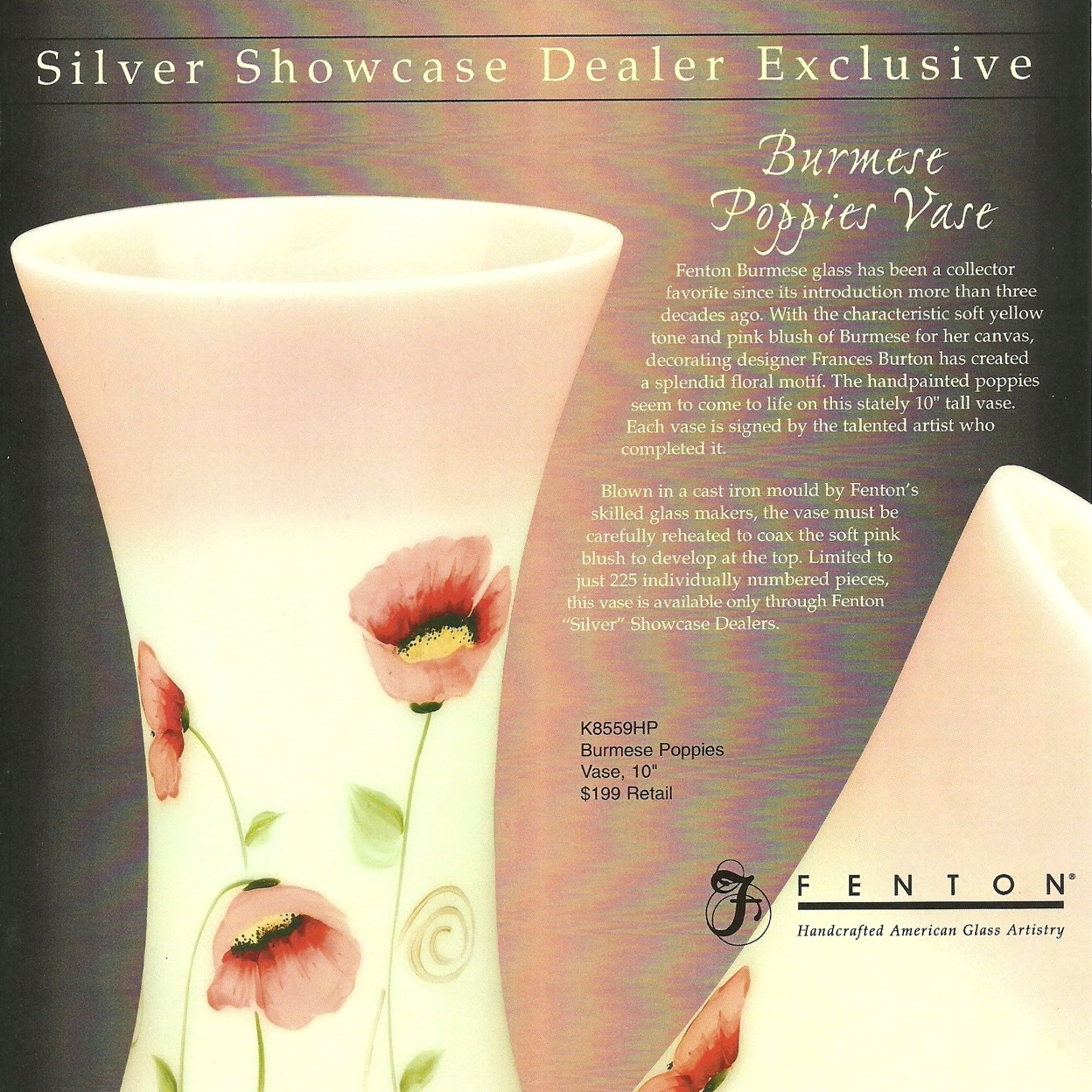 2006 Burmese Poppies Vase