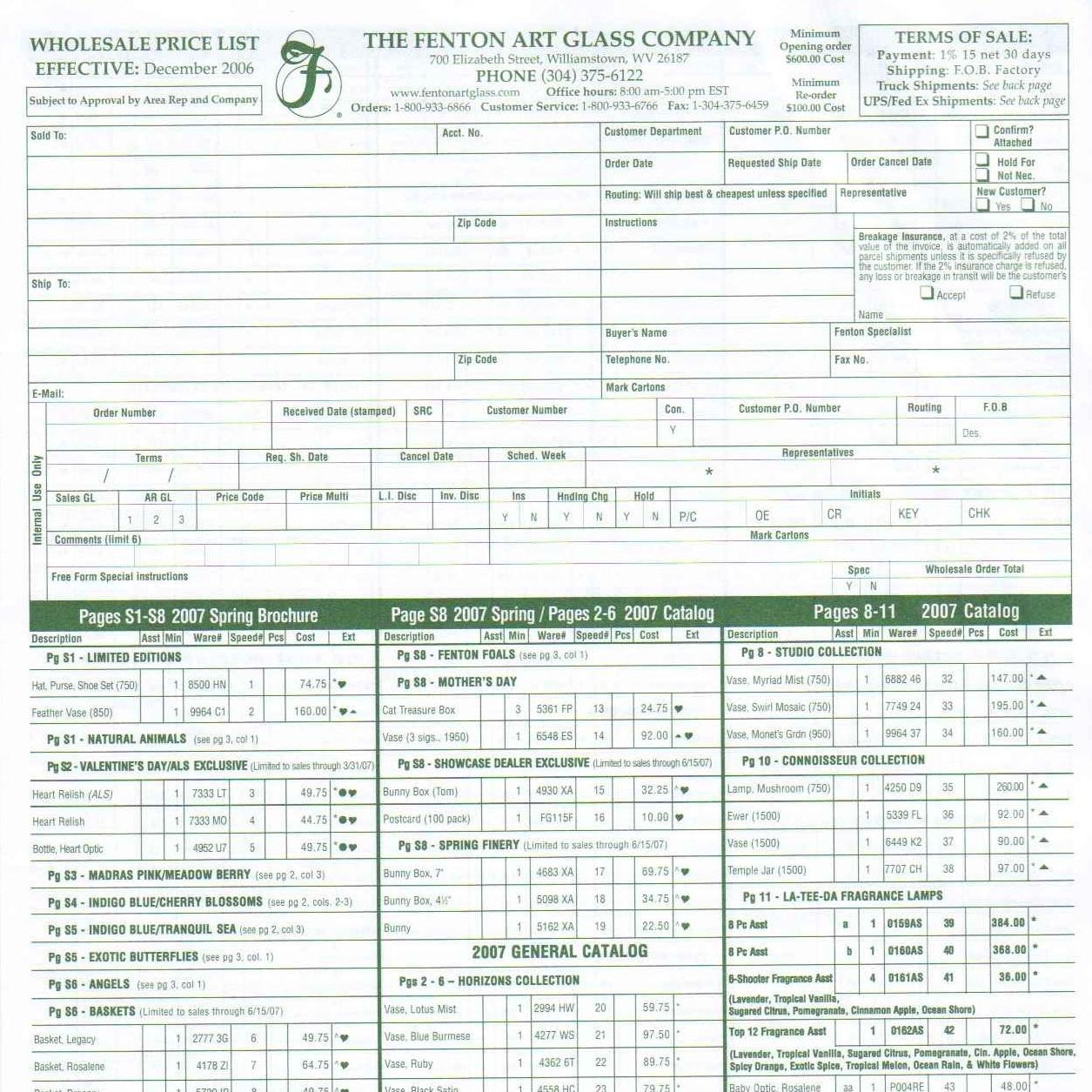 2007 Price Guide