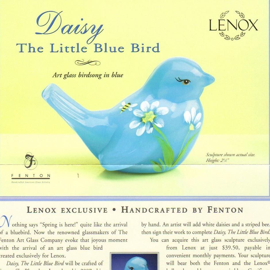 2009 Daisy Lenox Bird