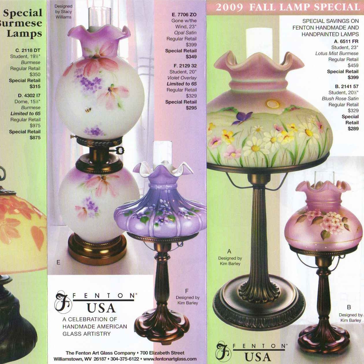 2009 Fall Lamp Special