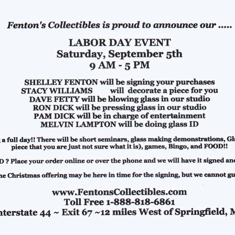 2009 Fenton's Collectibles Event