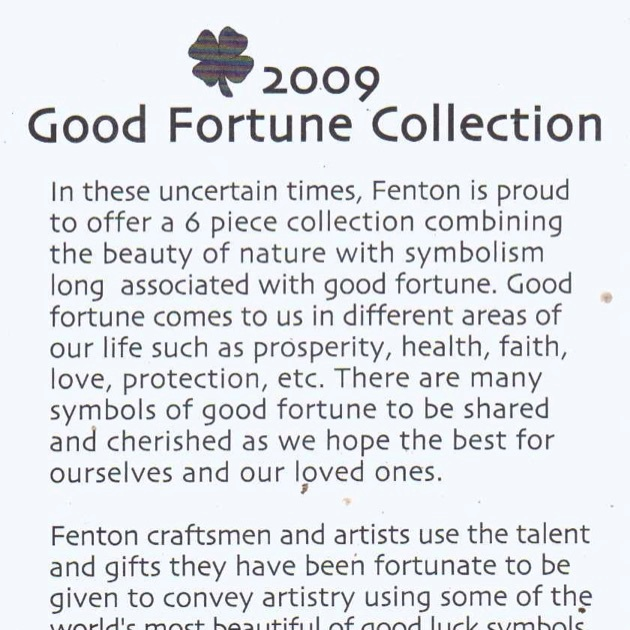 2009 Good Fortune Card