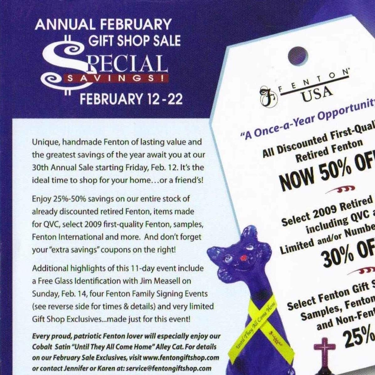 2010 Feb Gift Shop Sale