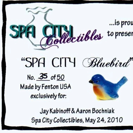 2010 Spa City Bluebird Card
