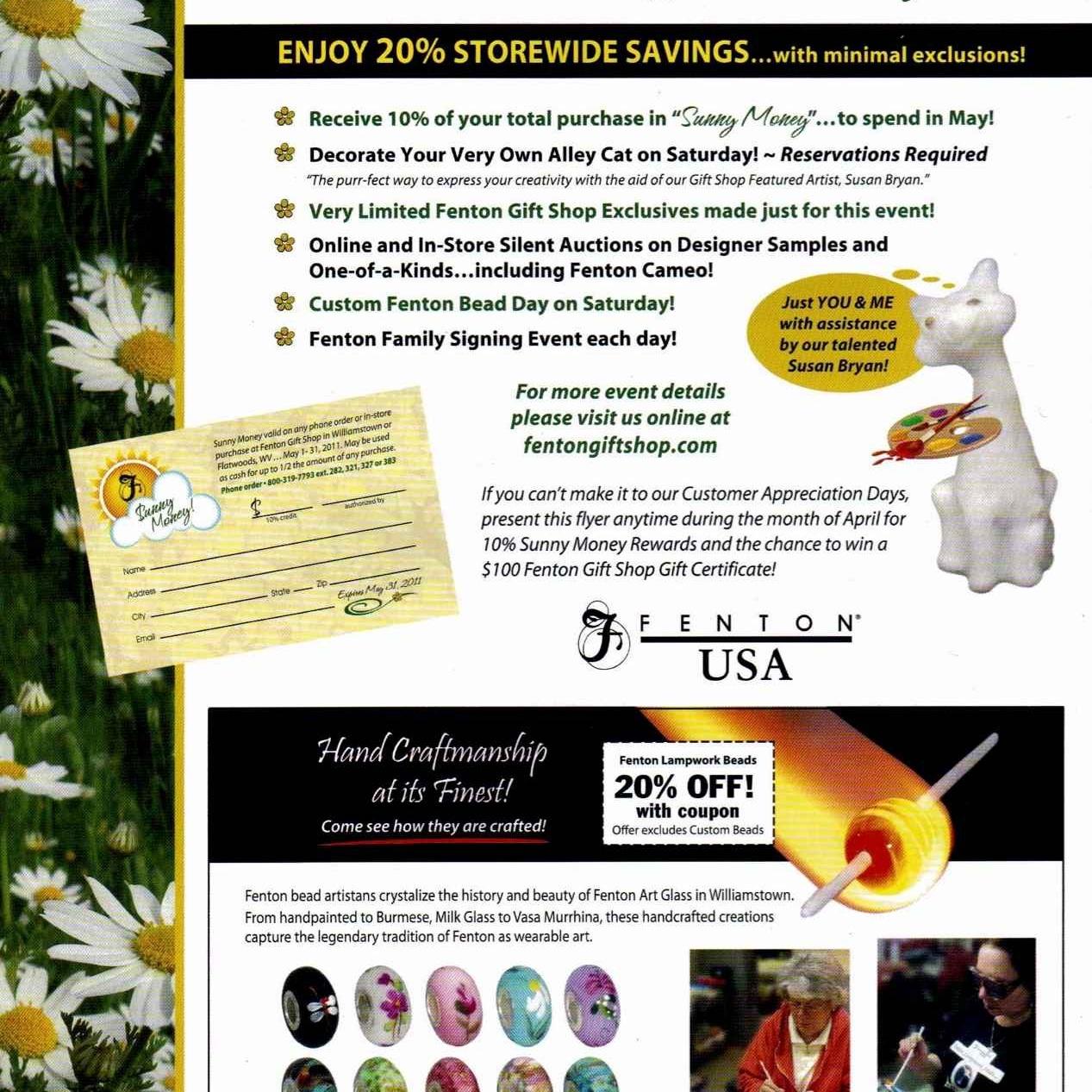 2011 Customer Appr. Days Flyer