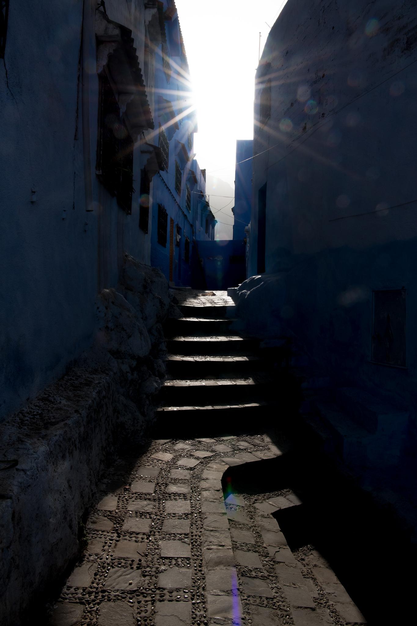 Chefchaouen Sunburst - Chefchaouen, Morocco