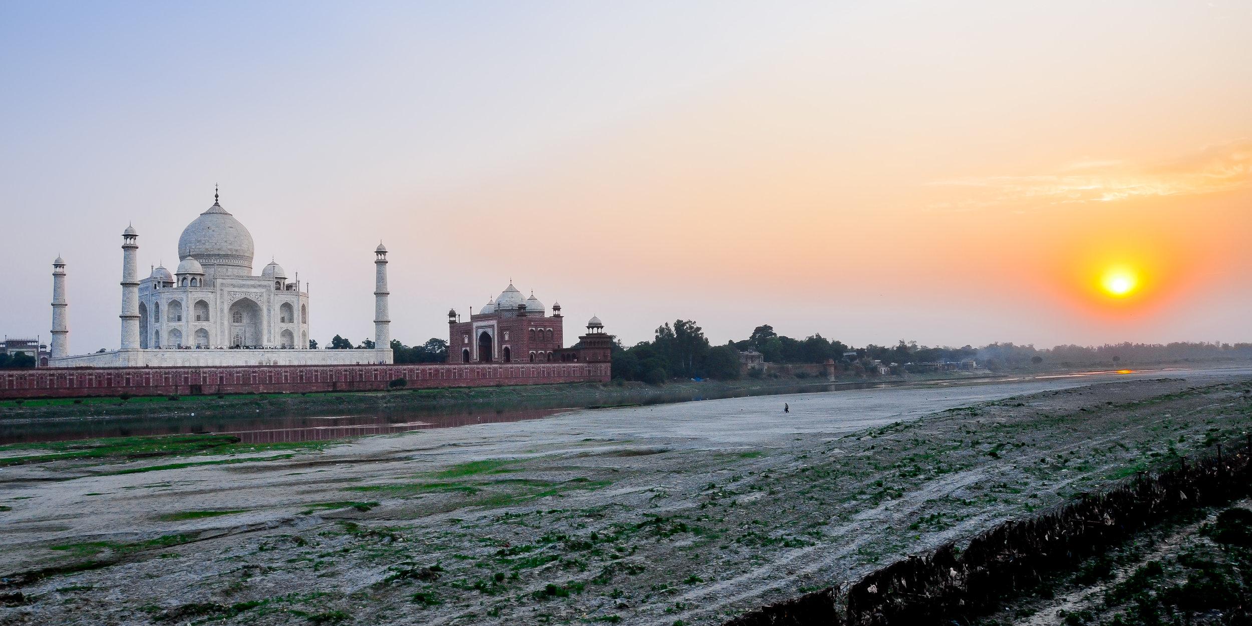 Taj Sunset - Taj Mahal (India)