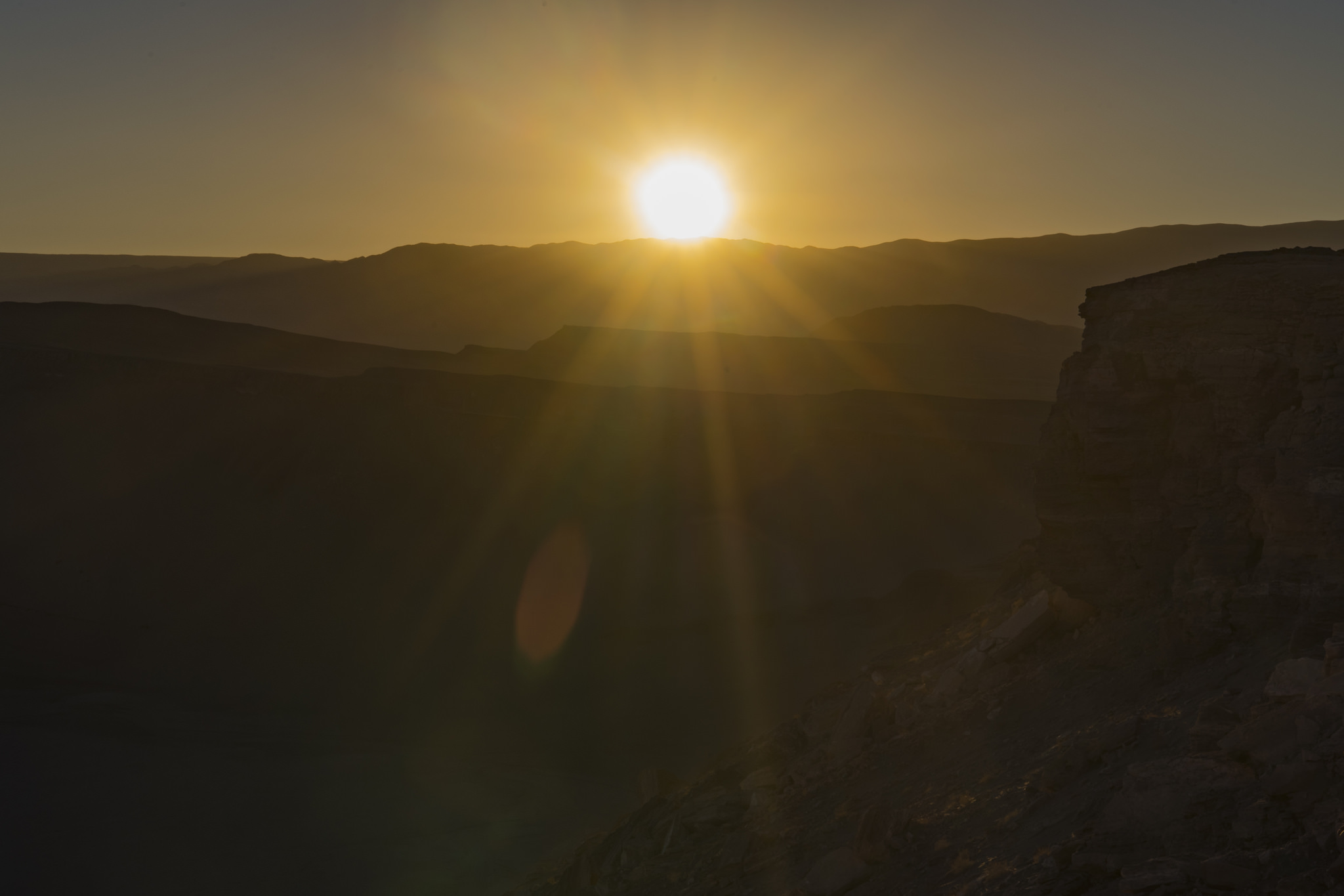 Desert Sunburst - Atacama Desert, Chile