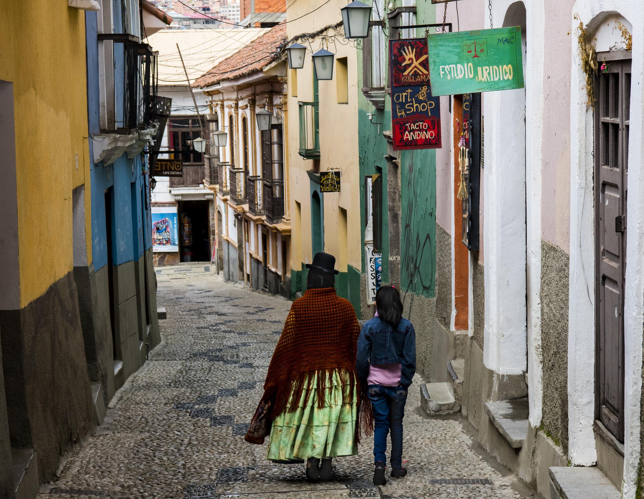 Old and New - Jaen Street (La Paz, Bolivia)