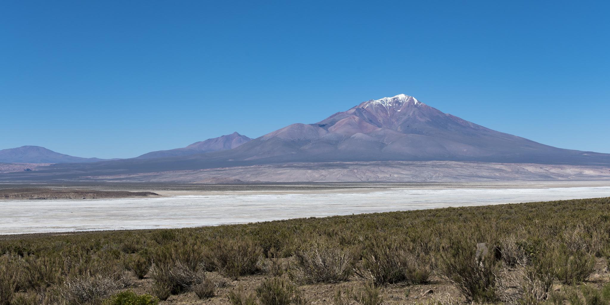 Bolivian Mountain and Salt Flat