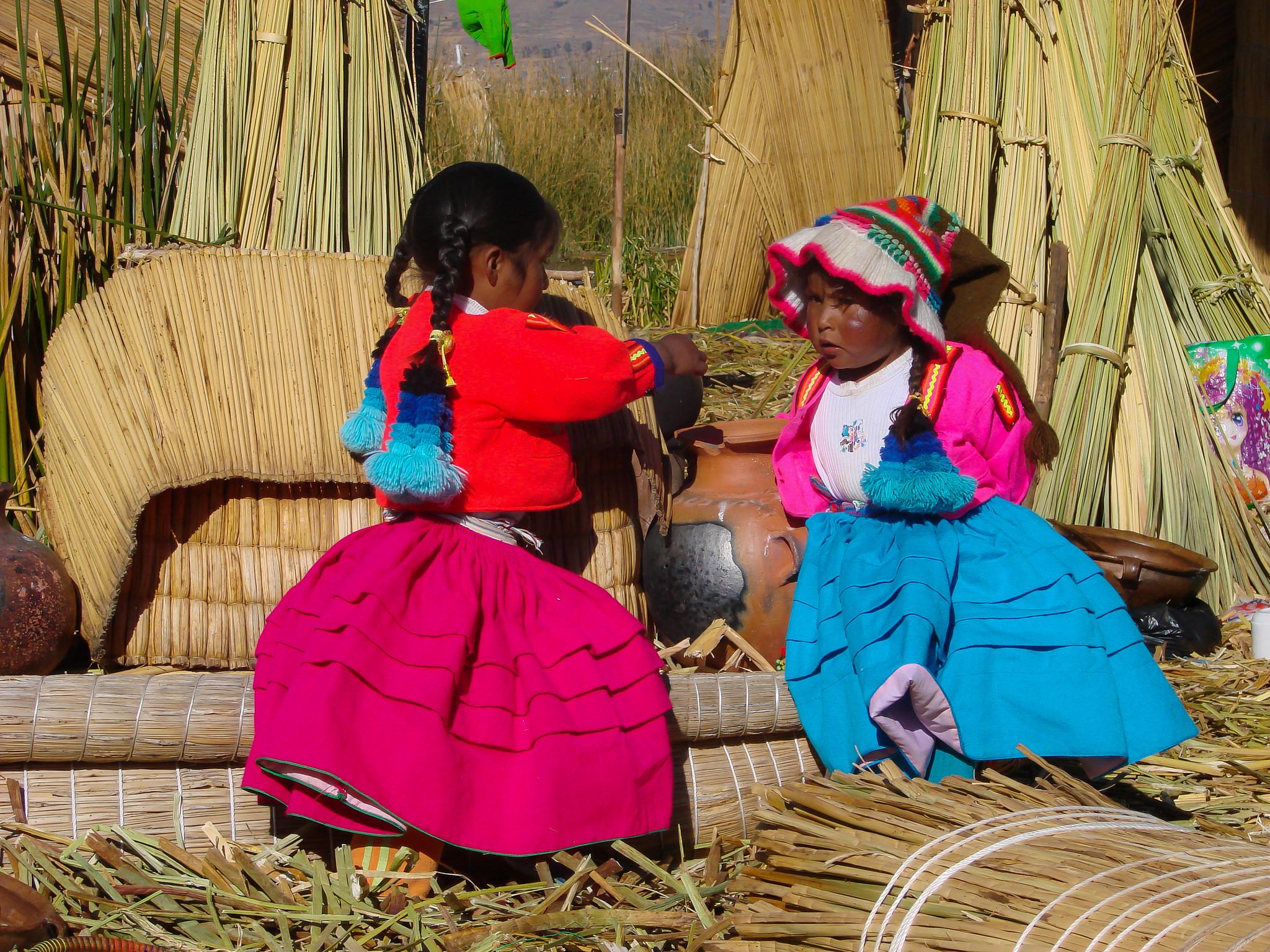 Uros Children- Lake Titicaca