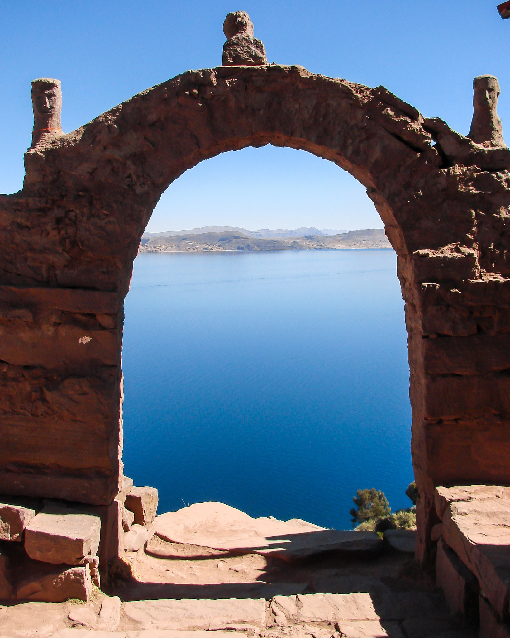 Gateway of Tequile Isle - Lake Titicaca