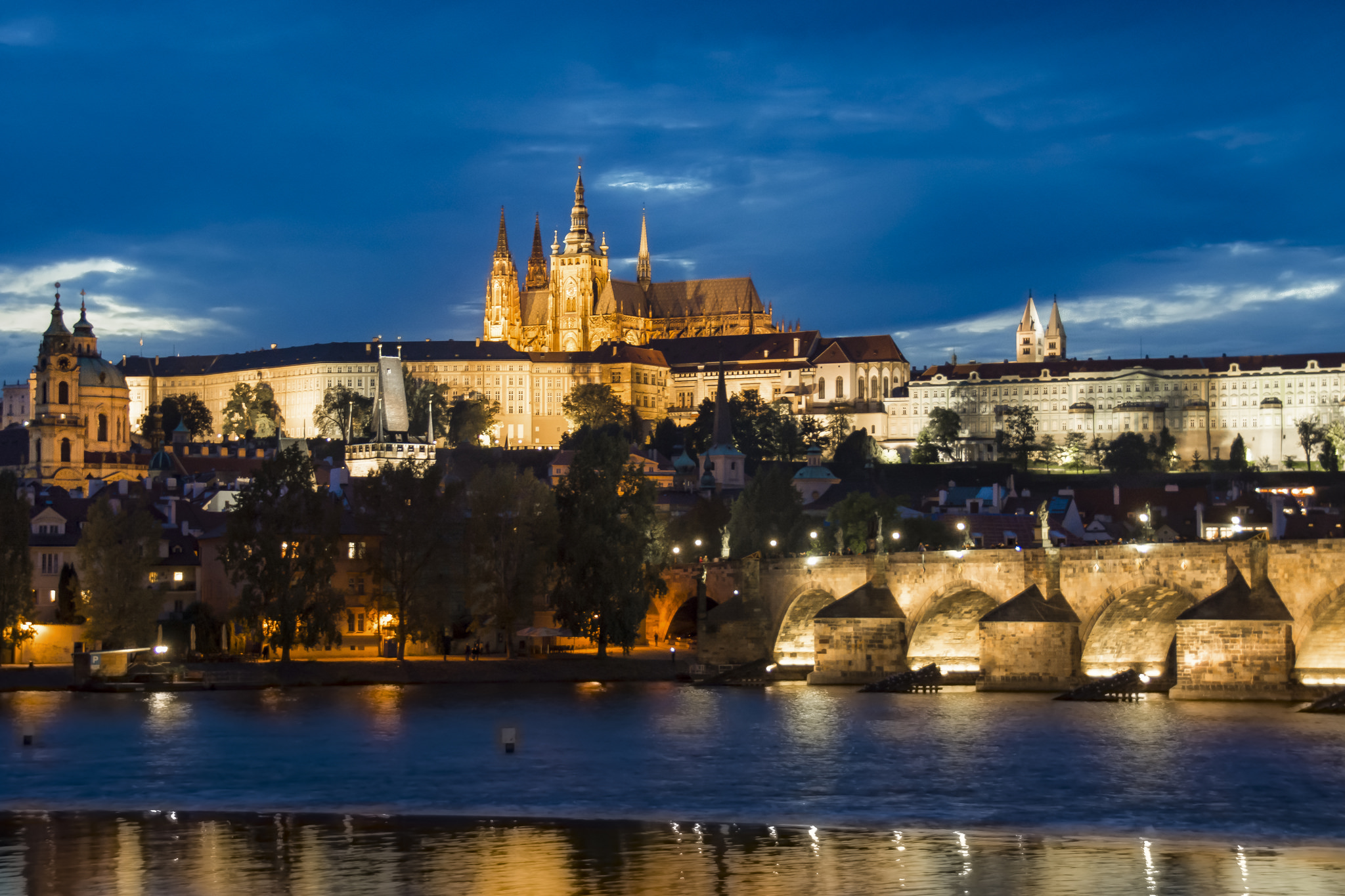 Prague Castle and St. Charles Bridge