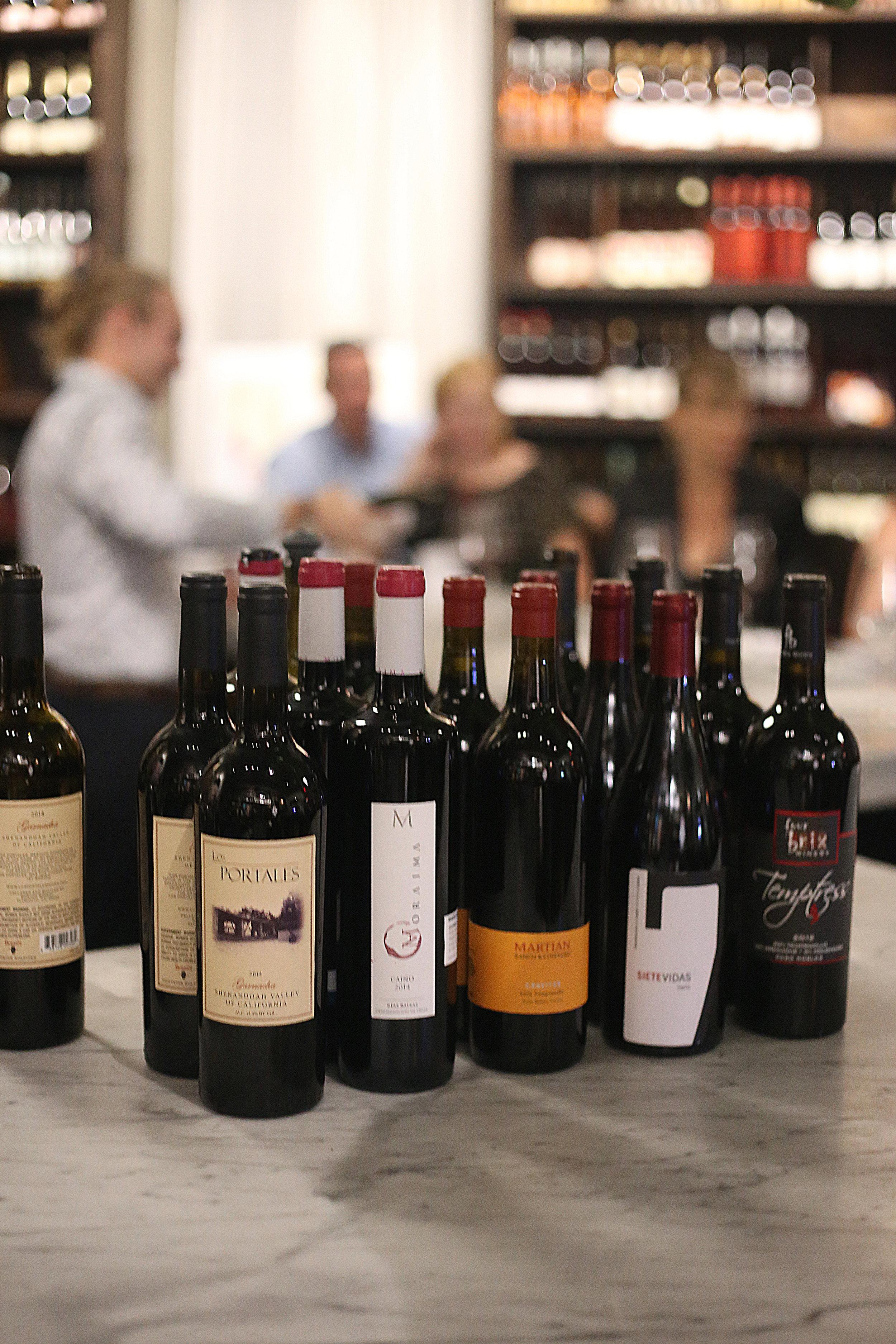 Wines for Pasion de Espana.JPG