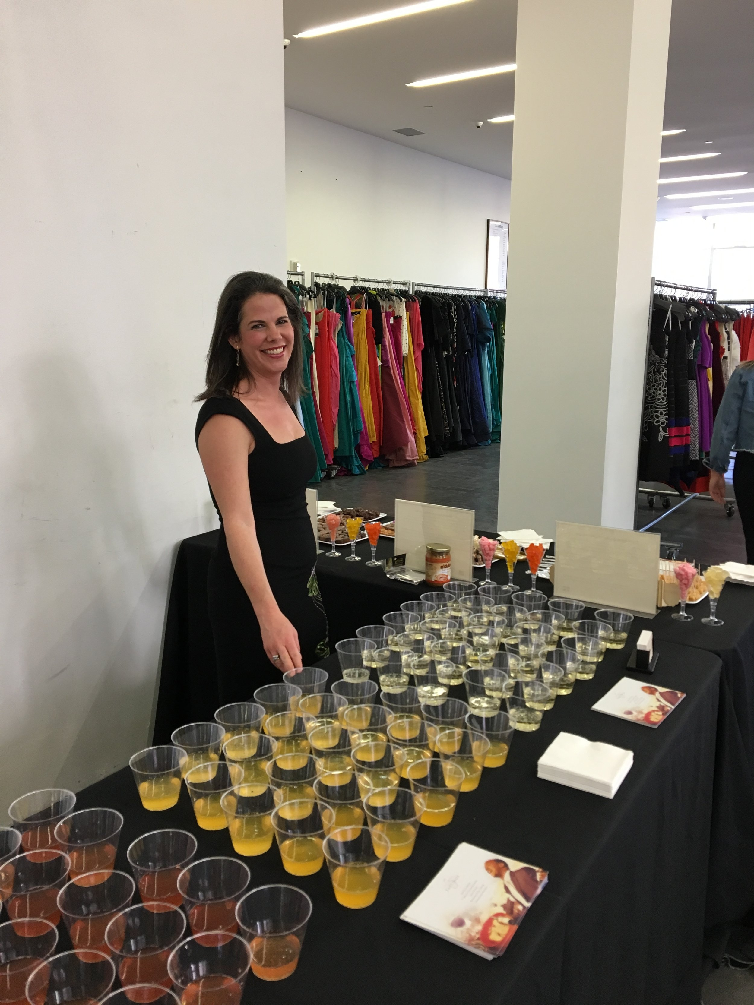 Kala serving wine at Oscar de la Renta.JPG