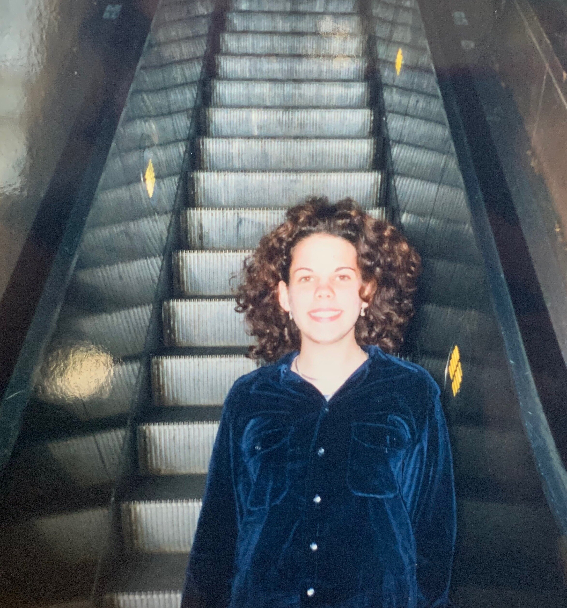 Me, aged 17, in Barcelona… when velvet was apparently in-style. Who am I kidding, I never had style.