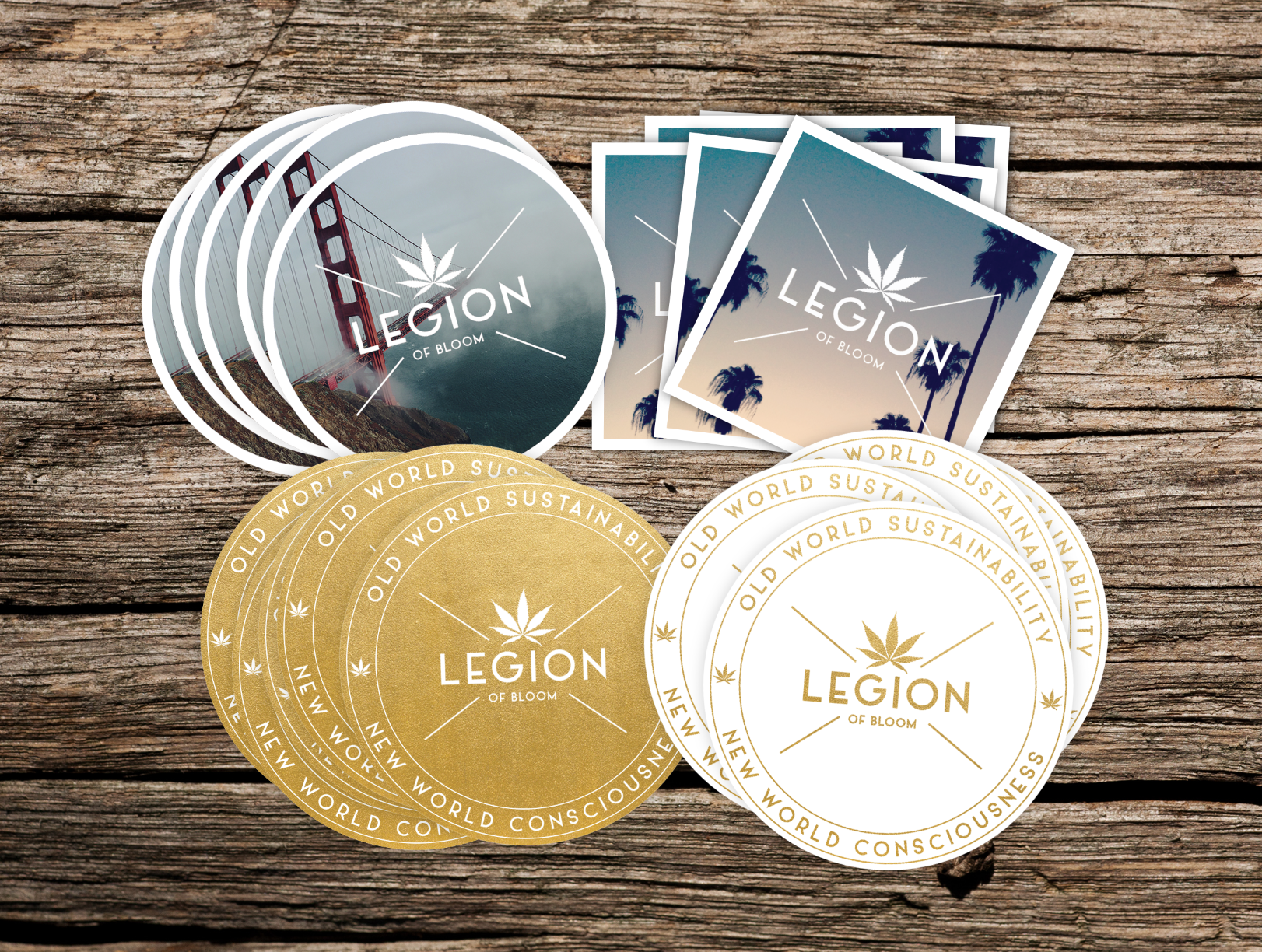 The Legion of Bloom Stickers