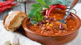 Beefy Corn & Black Bean Chilli Soup