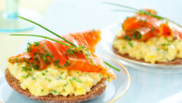 Smoked Salmon & Microwave Eggs