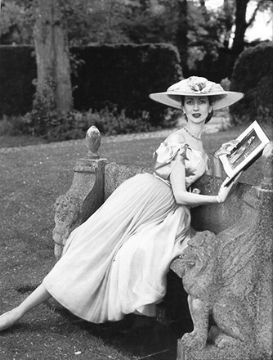 """Della Oake  1950's Cecil Beaton exemplifies the postwar conservatism that suggested the rigid codes of classical painting and the unquestioned authority of the ruling classes. """"Normalcy and good taste"""" were the orders of the day."""