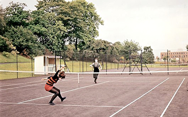Blow-Up  Mimes play imaginary tennis.