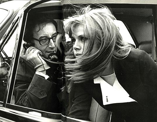 Ronald Traeger,  Britt Ekland and Peter Sellers, 1967