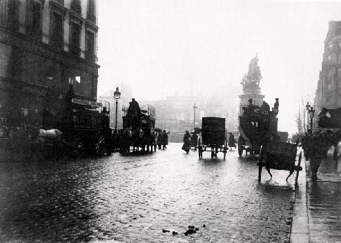Place de Clichy Seen From the rue de Clichy , 1890 Emile Zola