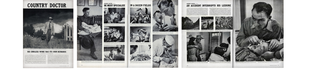 A Country Doctor  published by Life Magazine, September 20, 1948 W. Eugene Smith