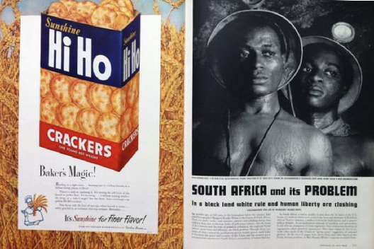 South Africa and its Problem  for  Life Magazine  two page layout September 18, 1950 Photographer: Margaret Bourke-White