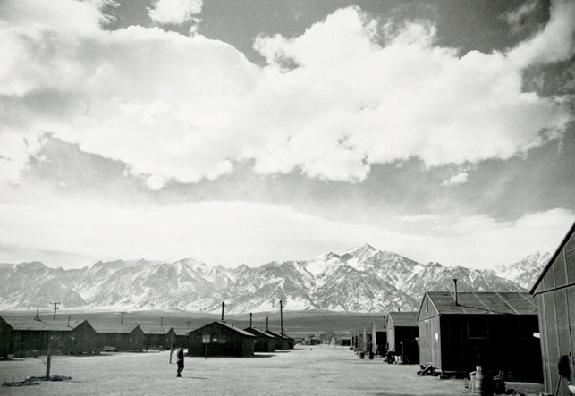 Manzanar Street Scene, 1942  Ansel Adams