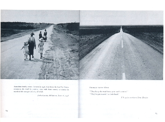 An American Exodus 1939 , (Two page spread) Photographer: Dorothea Lange, Text: Paul Taylor