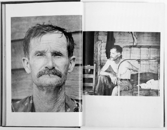 Let us Now Praise Famous Men , 1936 (Two page spread) Photographer: Walker Evans, Text: James Agee