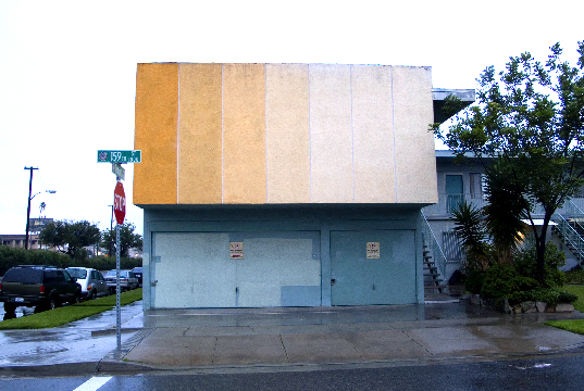 Gardena, 159th St. Beige Scale on a Blue Apartment Building  2014 Photograph by George Porcari