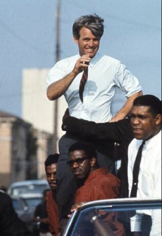 Bobby Kennedy campaigning in Watts, Los Angeles 1968