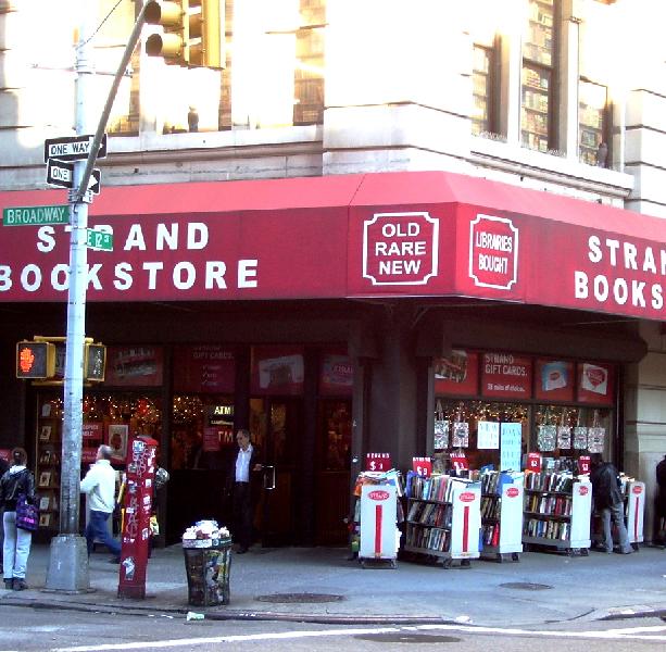 Exterior Strand Bookstore, New York City