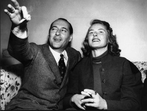 Unknown photographer,  Roberto Rossellini and Ingrid Bergman,  1949