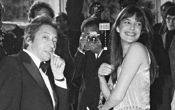 Daniel Angelli,  Serge Gainsbourg and Jane Birkin,  1969