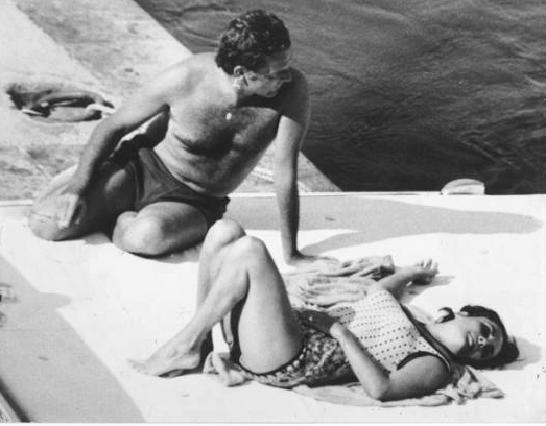 Marcello Geppetti,  RIchard Burton and Elizabeth Taylor,  1963