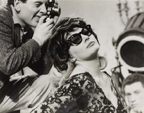 Pierluigi Praturlon,  Anonymous photographer and Anita Ekberg on the set of La Dolce Vita,  1959