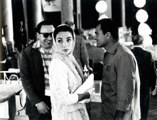 Edward Quinn,  Elizabeth Taylor and Mike Todd at the Screening of Around the World in 80 Days, Cannes Film Festival,  1957